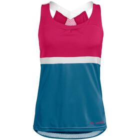 VAUDE Advanced Maglietta Donna, blu/rosso